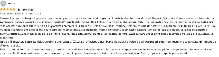 """La recensione di Giulia su """"Càscara"""""""