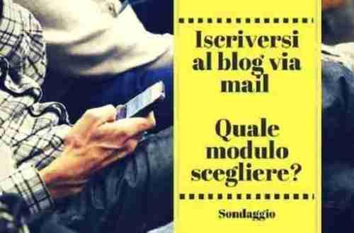 Blog: il modo migliore per raccogliere iscrizioni e-mail