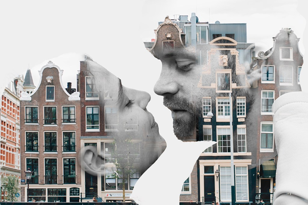 Amsterdam Couple Session - Double exposure