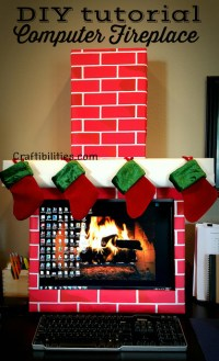 Holiday Office IDEA - FIREPLACE computer - cubicle - fun ...