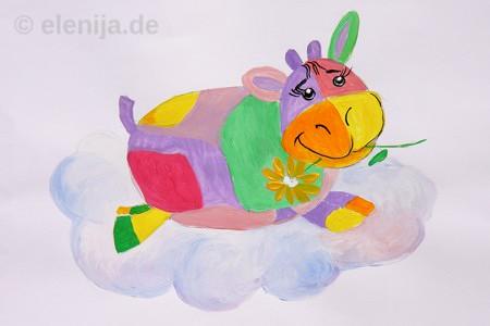 Glückliche Kuh, von Elenija