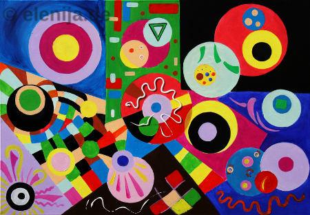 Regenbogenfarbige Geometrie, von Elenija