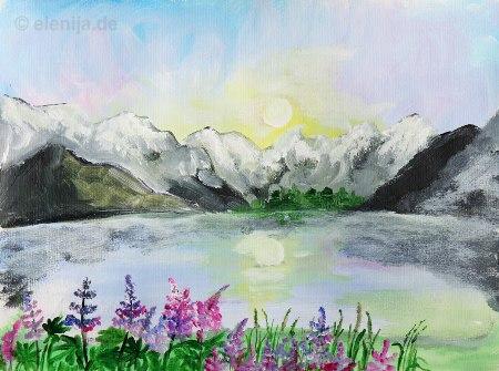 Aufzeichnung aus den Alpen, von Elenija