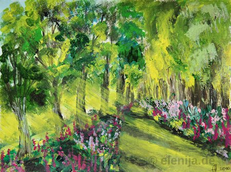 Sonne durch die Bäume, von Elenija