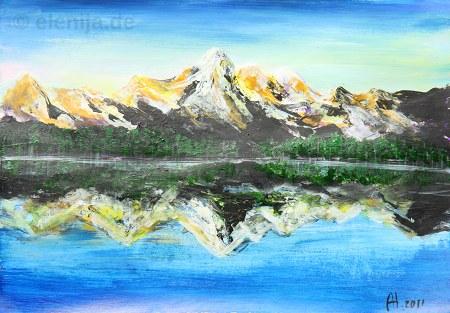 Spiegelung Edelweißspitze, von Elenija