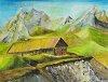 Haus in den Alpen