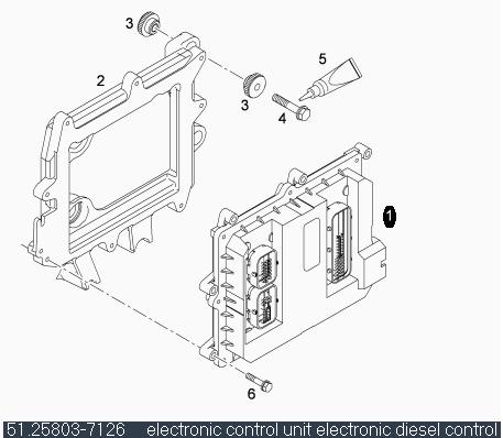 EDC Компютър / ел. блок за МАН D2066LF01 51258037126