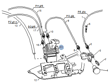 Кран / клапан / ватманка ръчна спирачка за SCANIA