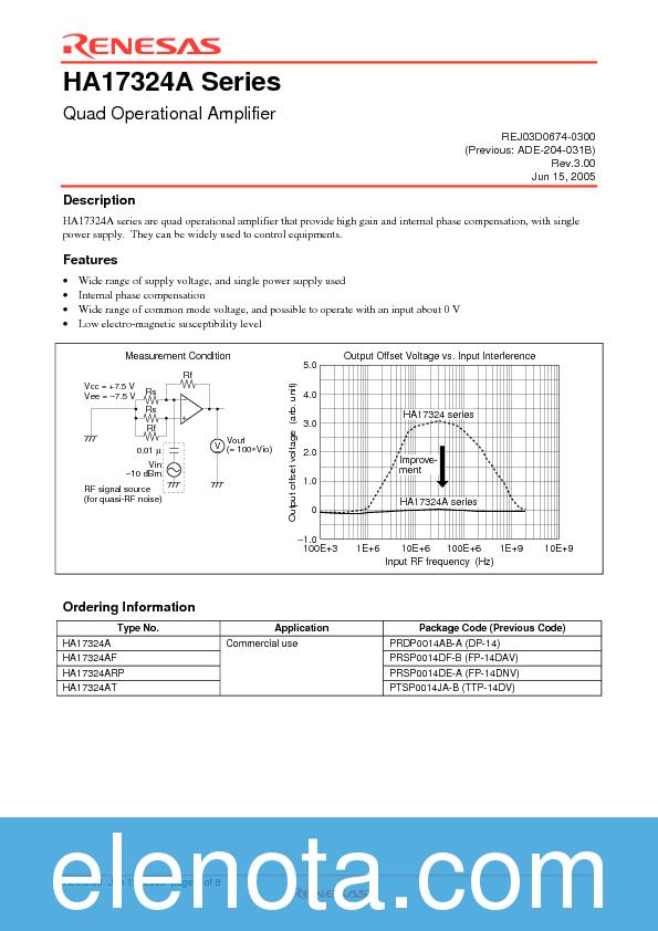 HA17324A DATASHEET PDF