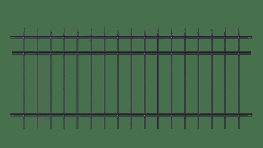 Zaunelemente Riva in gerader Ausführung, pulverbeschichtet