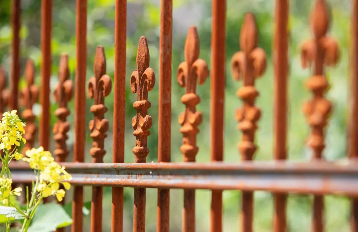 Detailaufnahme Antiker Zaun Lugano