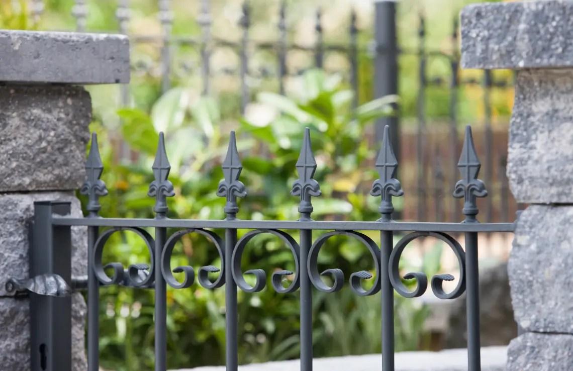 Gartentor Lucca - pulverbeschichtet - Kreuzlilie