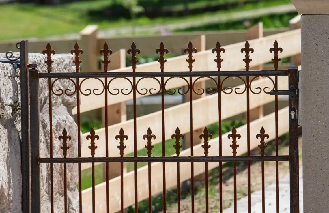 Gartentor Lugano - unbeschichtet - Lilie