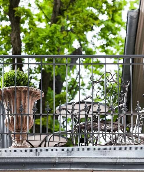 Balkongitter Lucca in pulverbeschichteter Ausführung
