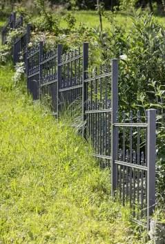Gartenzaun Ravenna aus Metall in pulverbeschichteter Ausführung in anthrazit