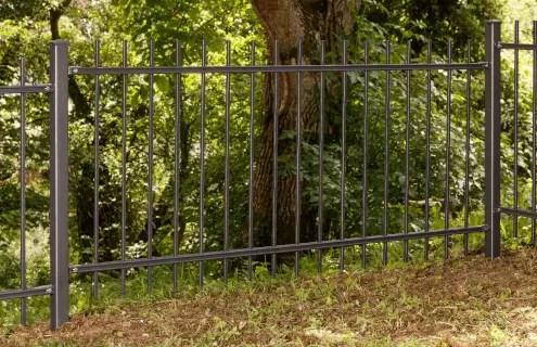 Gartenzaun Roma aus Metall in pulverbeschichteter Ausführung in anthrazit