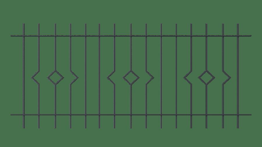 Zaunelemente Portofino in gerader Ausführung, pulverbeschichtet