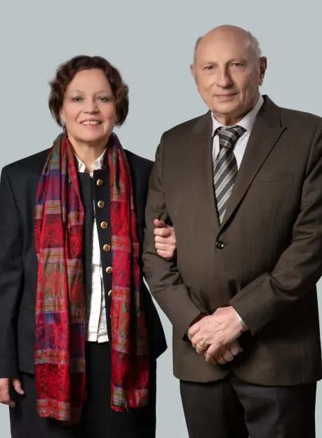 Der Firmengründer Klaus von Loeffelholz mit seiner Frau Eleonore