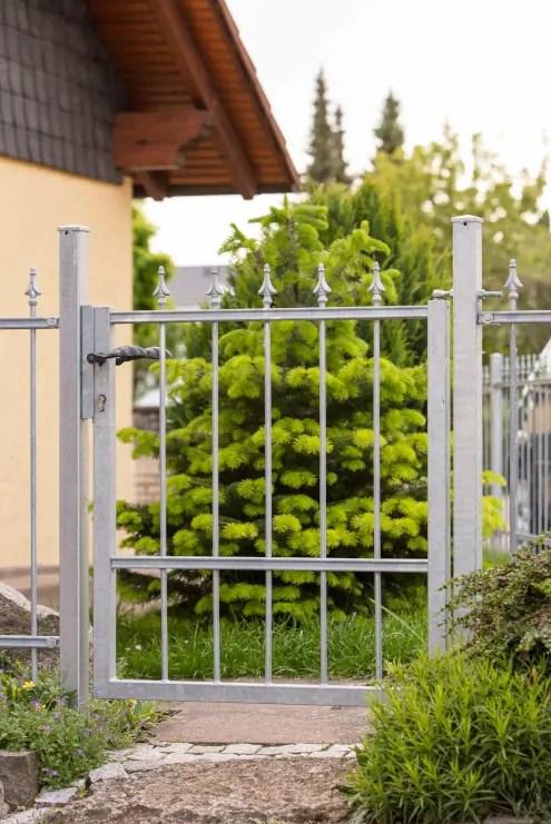 Gartentür Ravenna in feuerverzinkter Ausführung