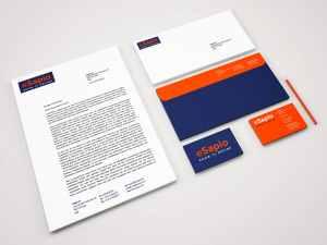 Esapio Perugia - logo + stationery