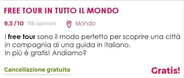 Free tour in italiano