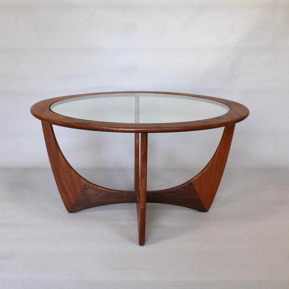 a 1960 s teak and glass circular g plan