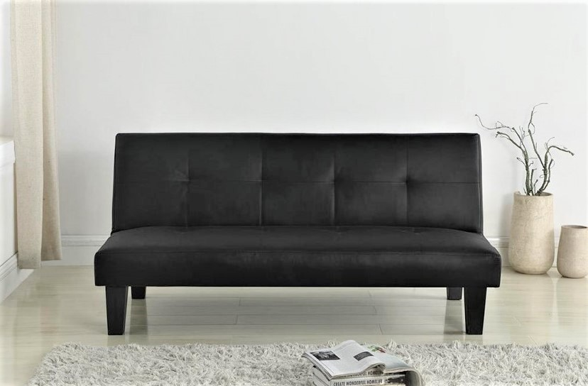 faux leather sofa bed uk crate and barrel davis queen sleeper franklin black beds futons at elephant images product photos birlea