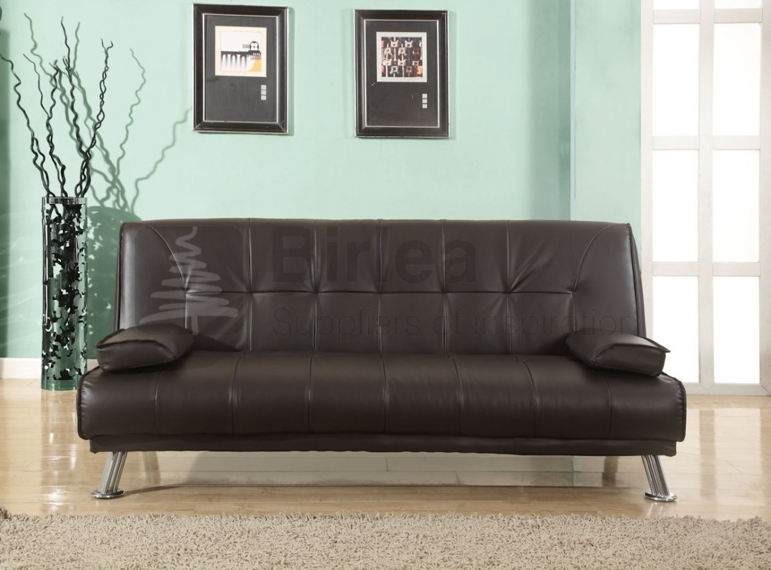 faux leather sofa bed uk ashley red logan sofabed brown beds futons at elephant images product photos birlea
