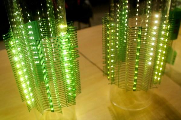 巴型構造を用いた伸縮性LEDランプ