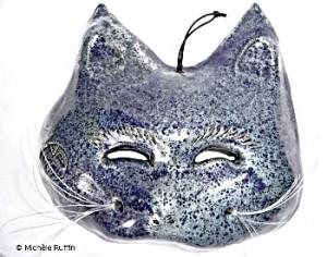 """chatchemoi"" bleu - masque céramique"