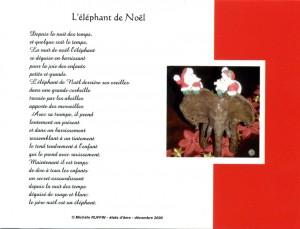 """cartepostale """"l'éléphant de Noël"""" - © Michèle Ruffin"""