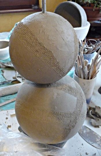 modelage boule argile