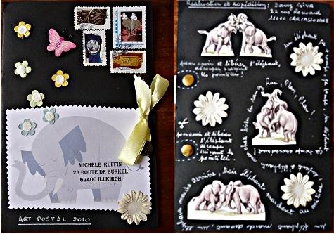 Jeu Mail Art MamieDany (recto/verso)