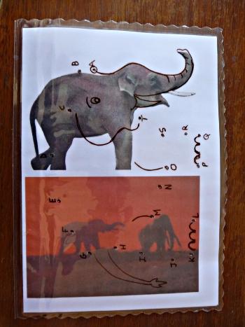 Jeu Mail Art RanTanPlan 7  (verso) (des points à relier)
