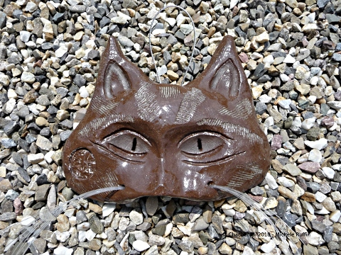 """Chachémoi brun"" masque céramique 2010 © Michèle Ruffin"