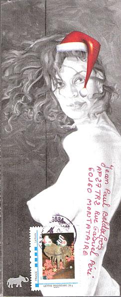 art postal - thème la femme