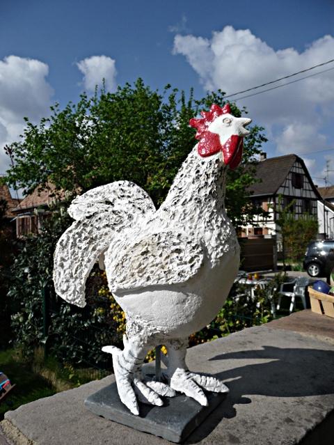Coq - céramique © 2011 Michèle Ruffin