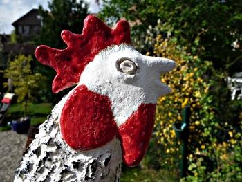 Coq - sculpture céramique © 2011 Michèle Ruffin