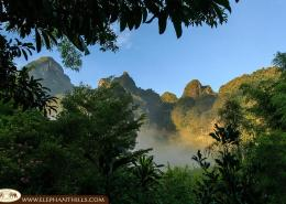 Surrounded by rainforest and Limestone Mountains