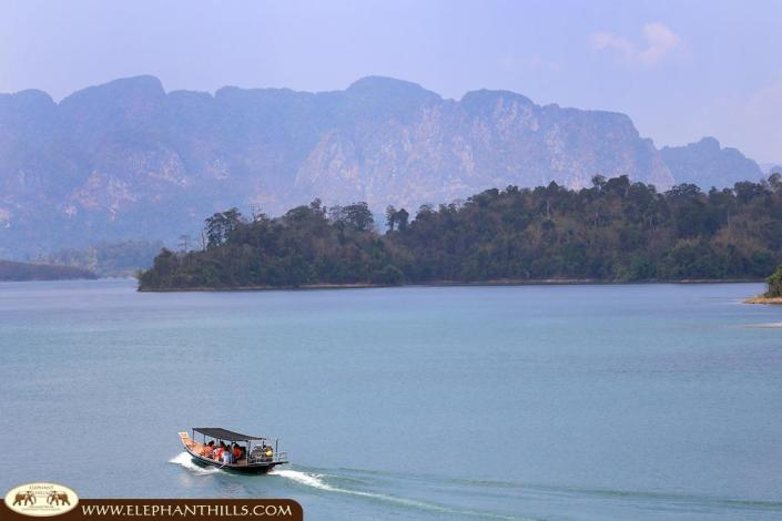 Enjoy the stunning landscape of Khao Sok National Park and the artifical lake