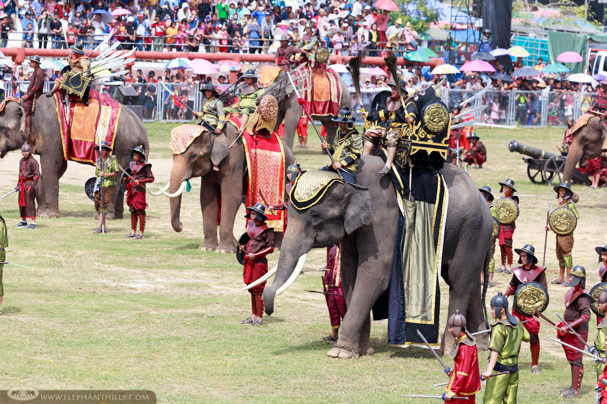 In Thai Tradition Elephants feature in performances this one