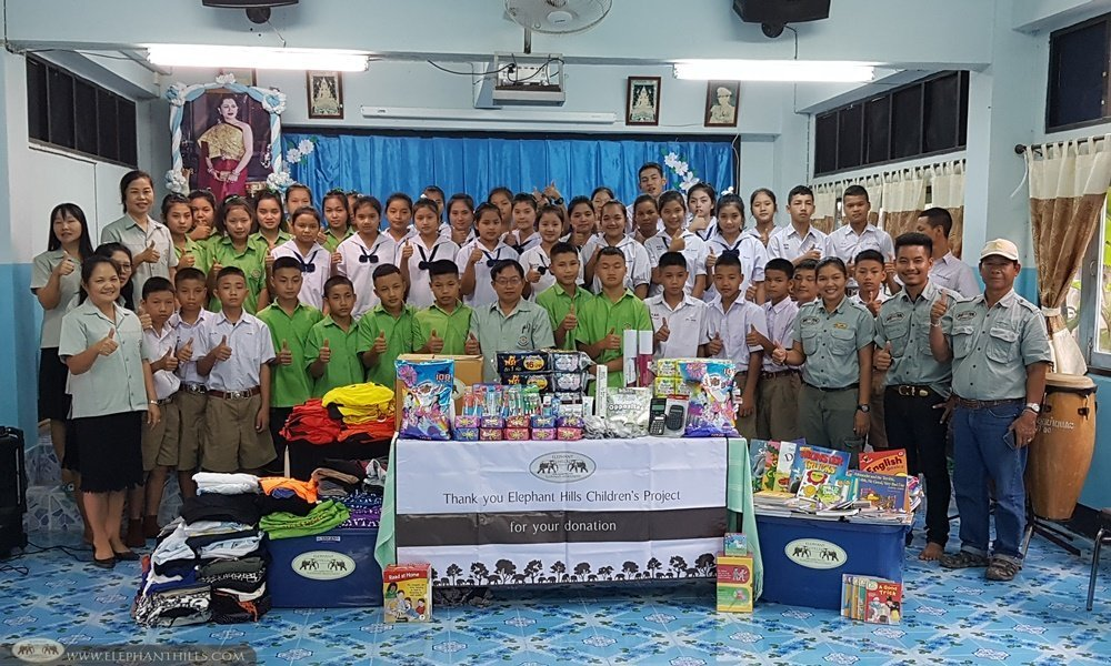Elephant Hills - Children's Project donation in Mae Hong Son