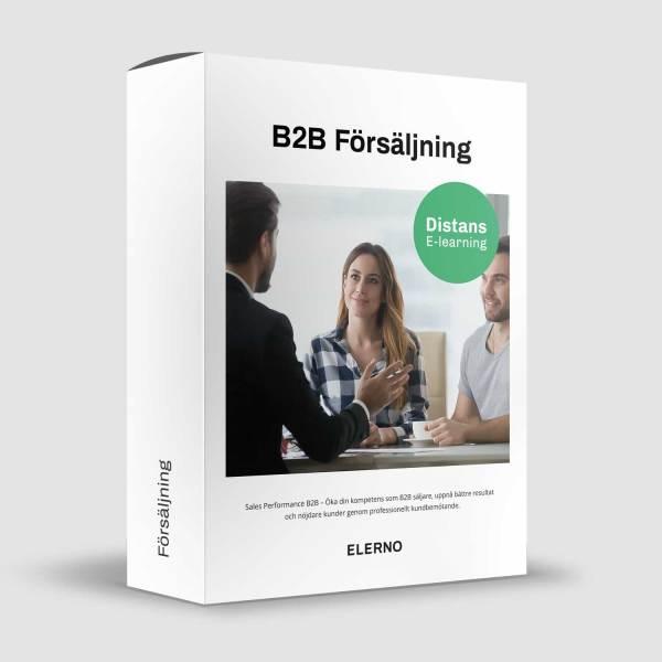 B2B Försäljning säljare presenterar för kund