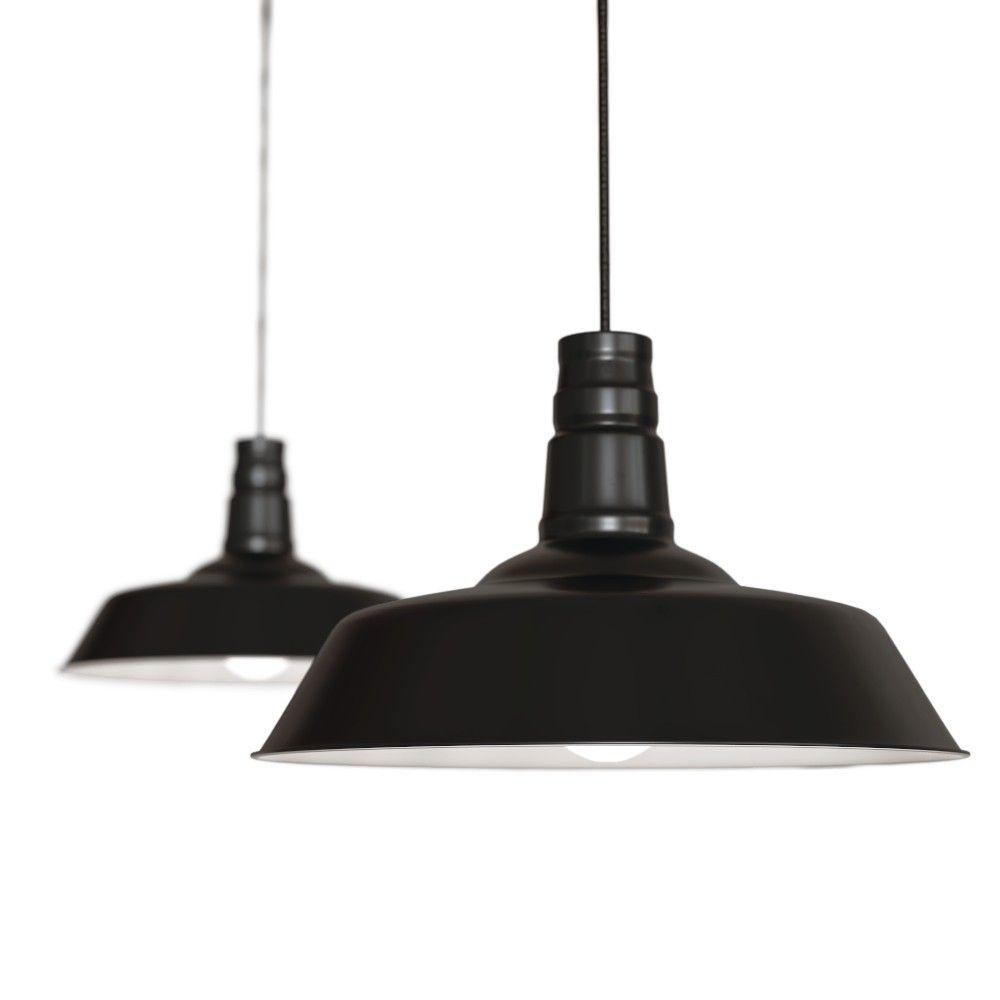 matt black industrial breakfast bar pendant light argyll soho lighting