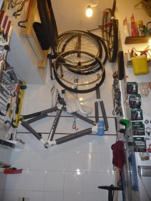officina in casa bici