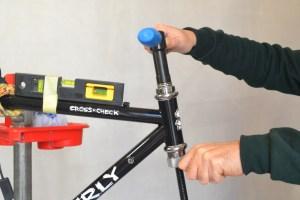 5518 Montiamo la bici serie sterzo trittico leve Surly Cross Check 57