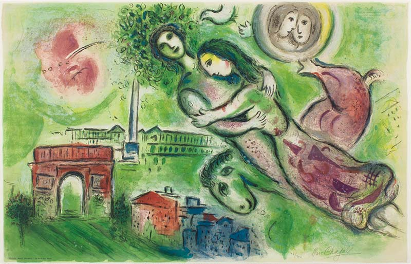 14. Romeo y Julieta, Marc Chagall, 1964