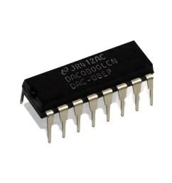 circuito integrado dac 0800 [ 1200 x 1200 Pixel ]
