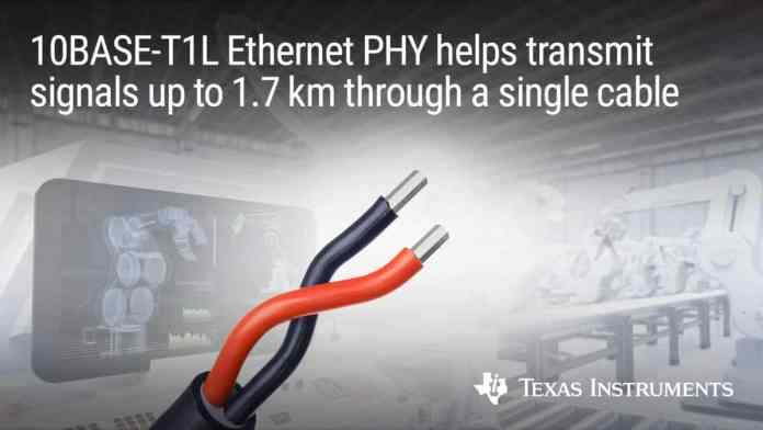 Nuovo PHY Ethernet single-pair per una maggiore portata
