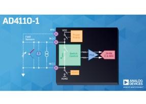 AD4110-1, front-end analogico configurabile da software, con ADC integrato, per sistemi di controllo dei processi industriali